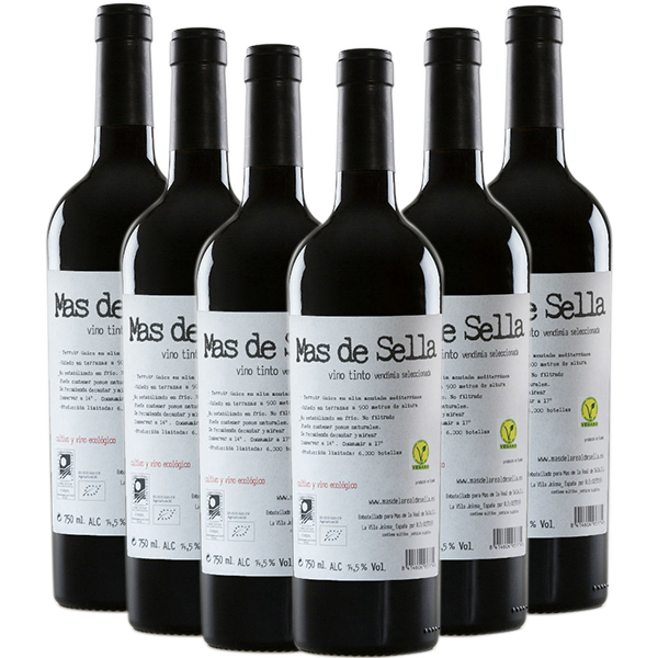 Tienda caja 6 botellas vino Mas de Sella